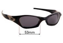 Sunglass Fix Sunglass Replacement Lenses for Oakley Valve - 53mm Wide