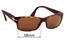 Sunglass Fix Sunglass Replacement Lenses for Persol 2803-S - 55mm Wide