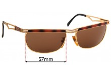 Sunglass Fix Sunglass Replacement Lenses for Police 2177 - 57mm Wide