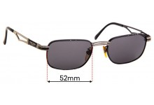 Sunglass Fix Sunglass Replacement Lenses for Police - 52mm Wide x 36mm Tall