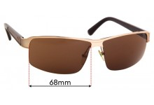 Sunglass Fix Sunglass Replacement Lenses for Police  S8855 Force - 68mm Wide