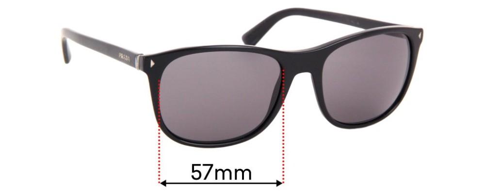 Sunglass Fix Sunglass Replacement Lenses for Prada SPR01R - 57mm Wide