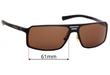 Sunglass Fix Sunglass Replacement Lenses for Prego 81303 - 61mm Wide