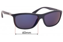 Sunglass Fix Replacement Lenses for Ray Ban Ray Ban RB8351 - 60mm Wide