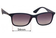 Sunglass Fix Sunglass Replacement Lenses for Ray Ban RB7047 - 54mm Wide