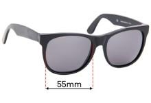 Sunglass Fix Sunglass Replacement Lenses for Retro Super Future Classic Wayfarers - 55mm Wide