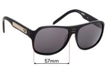 Sunglass Fix Sunglass Replacement Lenses for Roxy Chillin - 57mm Wide