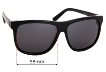 Sunglass Fix Sunglass Replacement Lenses for Sabre Pool Side - 58mm Wide