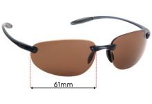 Sunglass Fix Sunglass Replacement Lenses for Serengeti Celcio - 61mm Wide