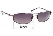 Sunglass Fix Sunglass Replacement Lenses for Serengeti Lamone - 60mm Wide