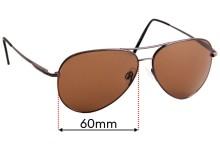 Sunglass Fix Sunglass Replacement Lenses for Serengeti Medium Aviator - 60mm Wide x 50mm Tall