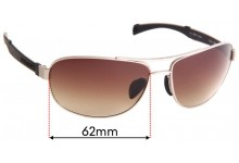 Sunglass Fix Sunglass Replacement Lenses for Serengeti Norcia -  62mm Wide