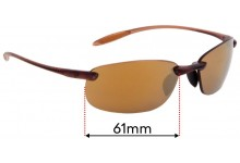 Sunglass Fix Sunglass Replacement Lenses for Serengeti Nuvola - 61mm Wide