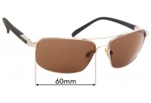 Sunglass Fix Sunglass Replacement Lenses for Serengeti Palladio - 60mm Wide x 41mm Tall