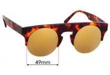 Sunglass Fix Sunglass Replacement Lenses for Shanghai Tang 1AF28A5 - 49mm Wide