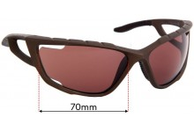 Sunglass Fix Sunglass Replacement Lenses for Specialized Divide - 70mm Wide