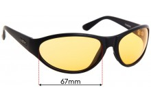 Sunglass Fix Sunglass Replacement Lenses for Spotters Thunder - 67mm Wide