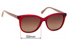 Sunglass Fix Sunglass Replacement Lenses for Tommy Hilfiger / Specsavers TH 93 - 53mm Wide