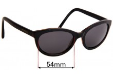 Sunglass Fix Sunglass Replacement Lenses for Tommy Hilfiger / Specsavers TH Sun Rx 06 - 54mm Wide