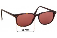 Sunglass Fix Sunglass Replacement Lenses for Tommy Hilfiger / Specsavers TH Sun RX 09 - 55mm Wide