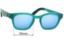 Sunglass Fix Sunglass Replacement Lenses for Toms Bowery - 51mm Wide