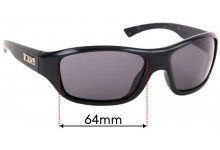Sunglass Fix Sunglass Replacement Lenses for Tonic Evo - 64mm Wide
