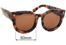 Sunglass Fix Sunglass Replacement Lenses for Valley A Dead Coffin Club - 50mm Wide