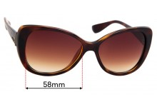 Sunglass Fix Sunglass Replacement Lenses for Vogue VO 2819-S - 58mm Wide
