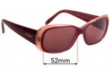 Sunglass Fix Sunglass Replacement Lenses for Vogue VO2606-S - 52mm Wide