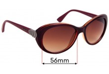 Sunglass Fix Sunglass Replacement Lenses for Vogue VO2770-S - 56mm Wide