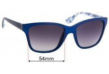 Sunglass Fix Sunglass Replacement Lenses for Vogue VO2896-S - 54mm Wide