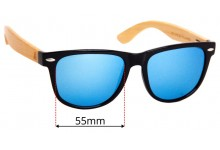 Sunglass Fix Sunglass Replacement Lenses for Wudn WPB1203 - 55mm Wide