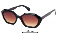 Sunglass Fix Sunglass Replacement Lenses for Childe Snare - 51mm Wide