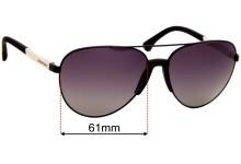 Sunglass Fix Sunglass Replacement Lenses for Emporio Armani EA2059 - 61mm Wide