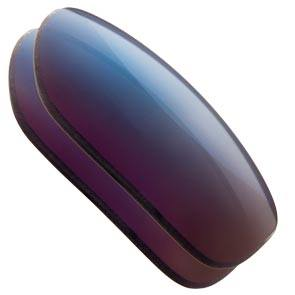 Blue Mirrored Black Replacement Lenses colour Example