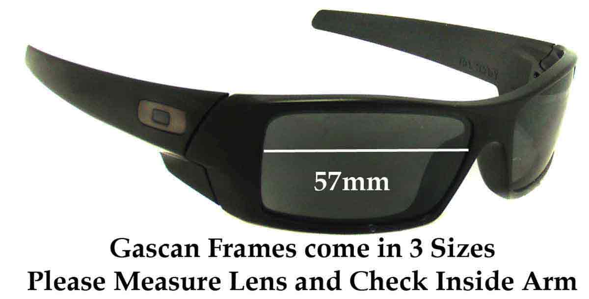 Oakley Gascan Asian Fit Sunglass Replacement Lenses - 57mm Wide